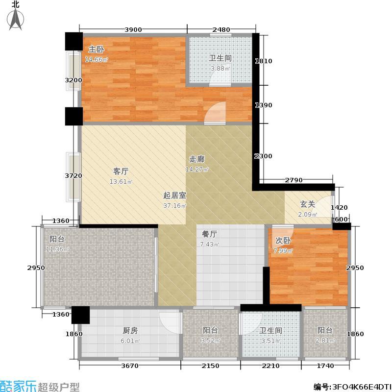 港航江缘110.00㎡港航江缘户型图港航江缘户型C(2/3张)户型3室2厅2卫