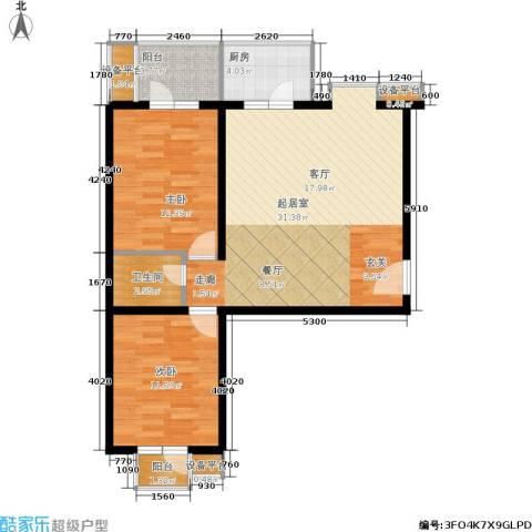 万华园琳苑小区2室0厅1卫1厨78.00㎡户型图