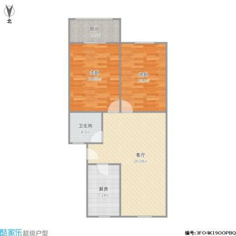 水清二村2室1厅1卫1厨94.00㎡户型图