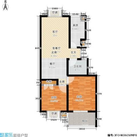 腾骐冠宸2室1厅1卫1厨116.00㎡户型图