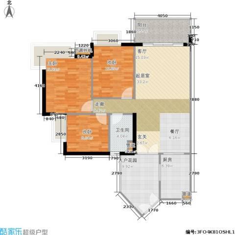 富力海洋广场3室0厅1卫1厨92.81㎡户型图