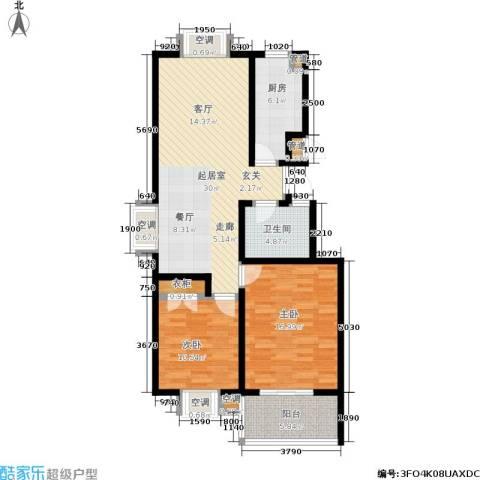 腾骐冠宸2室0厅1卫1厨115.00㎡户型图