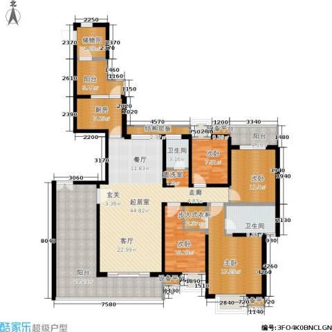 紫薇希望城4室0厅2卫1厨180.00㎡户型图
