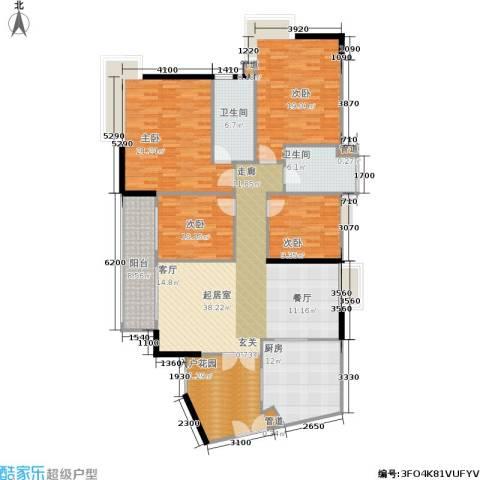富力海洋广场4室0厅2卫1厨143.40㎡户型图