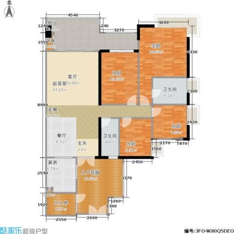 富力海洋广场4室0厅2卫1厨199.00㎡户型图