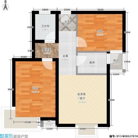 昆明花园2室0厅1卫1厨78.00㎡户型图
