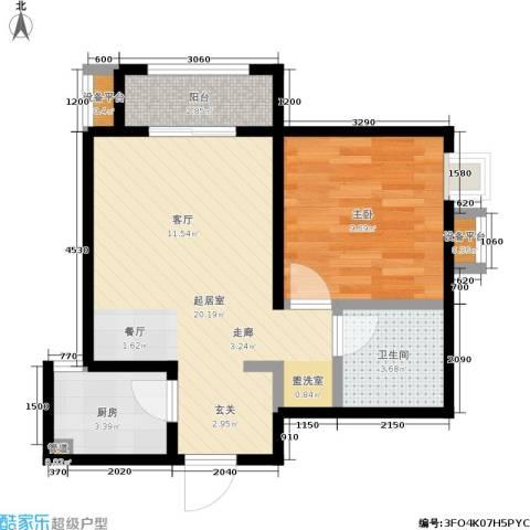 中华世纪城1室0厅1卫1厨59.00㎡户型图