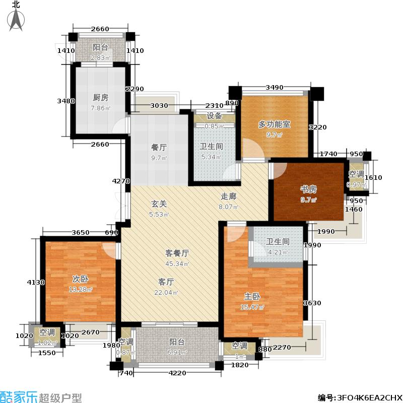 新港天之运花园146.00㎡A1户型4室2厅2卫