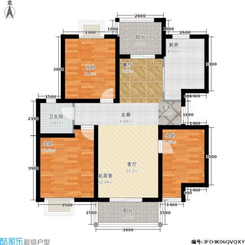 昆明花园3室0厅1卫1厨115.00㎡户型图