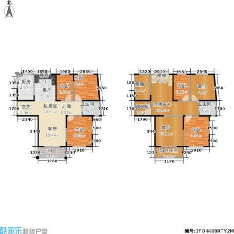 �泰华秀苑5室0厅2卫1厨134.00㎡户型图