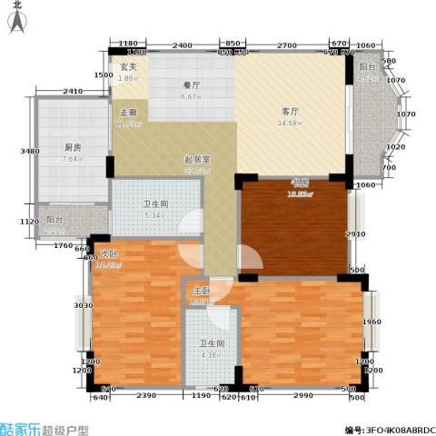 嘉新桃花里3室0厅2卫1厨118.00㎡户型图