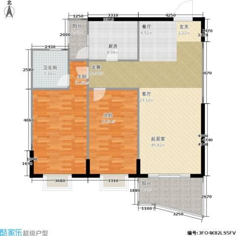 嘉新桃花里2室0厅1卫1厨110.88㎡户型图