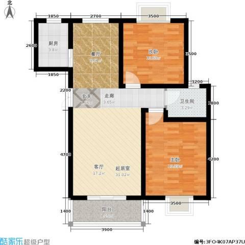 昆明花园2室0厅1卫1厨92.00㎡户型图