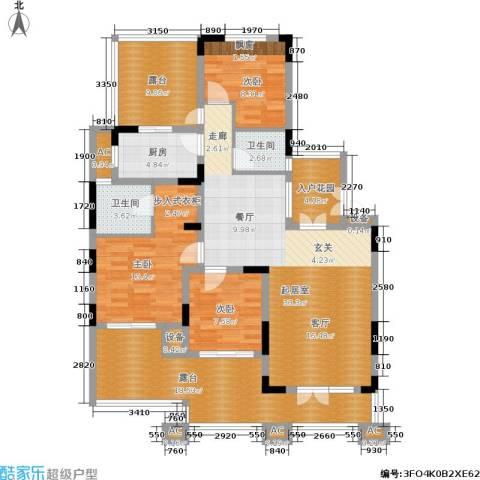 金色家园3室0厅2卫1厨132.00㎡户型图