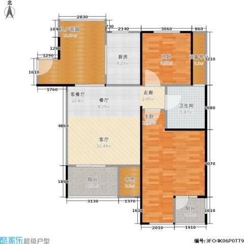 万科金色家园2室1厅1卫1厨93.00㎡户型图
