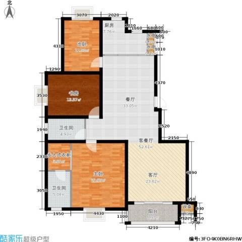 尚品清河3室1厅2卫1厨144.00㎡户型图