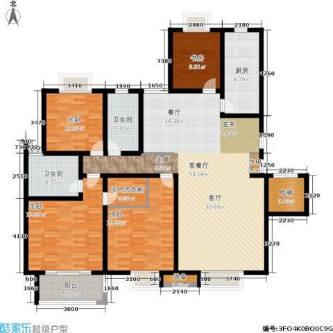尚品清河4室1厅2卫1厨160.00㎡户型图