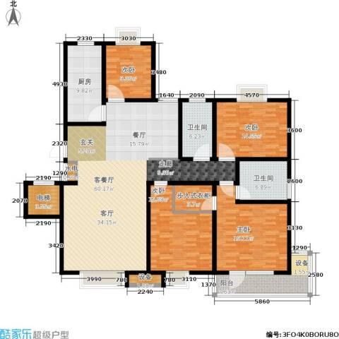 尚品清河4室1厅2卫1厨180.00㎡户型图