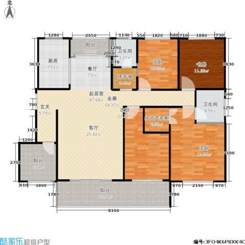 建大教授花园4室0厅2卫1厨194.00㎡户型图