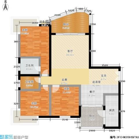 春天花园3室0厅2卫1厨156.00㎡户型图