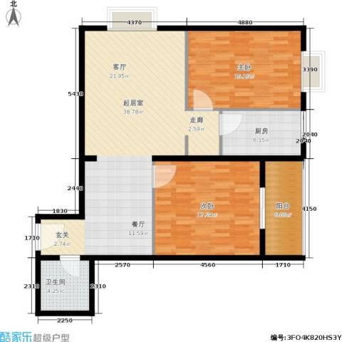万华园琳苑小区2室0厅1卫1厨97.00㎡户型图