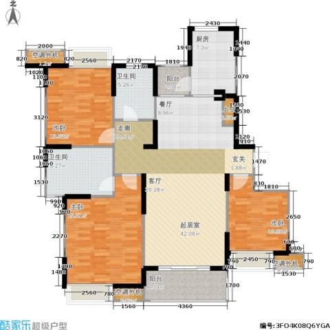 枫林意树3室0厅2卫1厨132.00㎡户型图