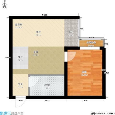 黄金嘉园1室0厅1卫0厨49.00㎡户型图