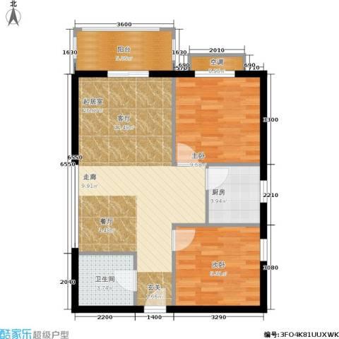 凤凰新城2室0厅1卫1厨61.00㎡户型图