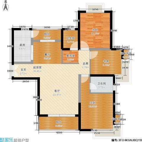 紫薇希望城3室0厅2卫1厨120.00㎡户型图