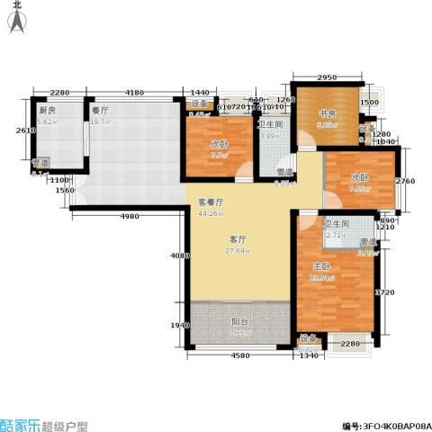 保利花园4室1厅2卫1厨146.00㎡户型图