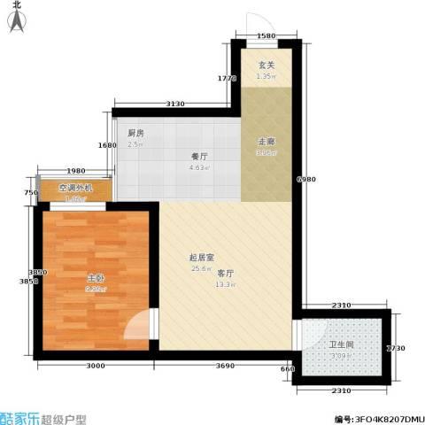 黄金嘉园1室0厅1卫0厨52.00㎡户型图