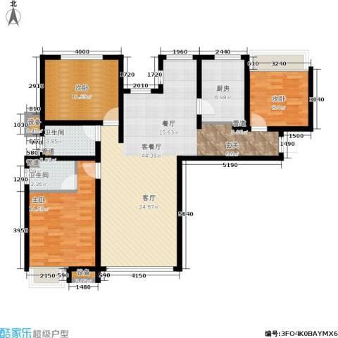 保利花园3室1厅2卫1厨135.00㎡户型图