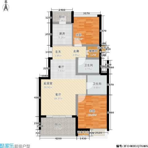 茂华国际湘2室0厅2卫1厨114.00㎡户型图