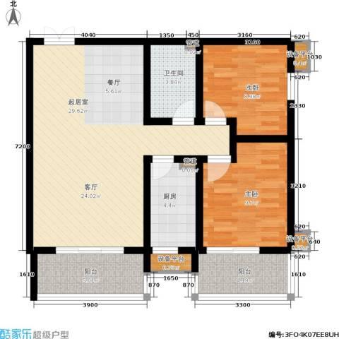 金品会展世界城2室0厅1卫1厨105.00㎡户型图