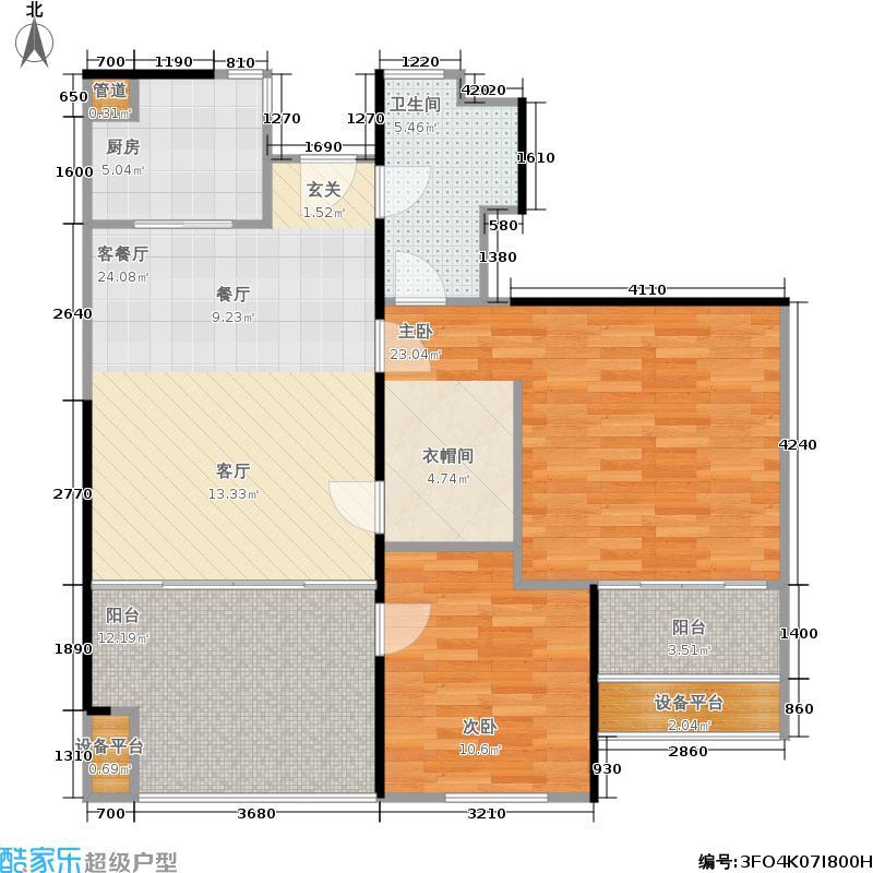 万科金色家园94.00㎡A栋403-3003单元户型