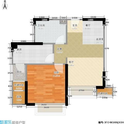 枫林意树1室0厅1卫1厨56.00㎡户型图