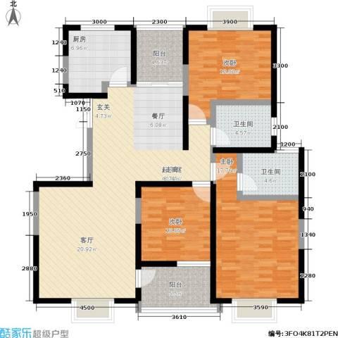 丰景佳园3室0厅2卫1厨135.00㎡户型图