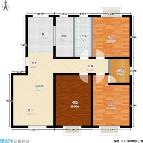 含光静里3室0厅2卫1厨106.69㎡户型图