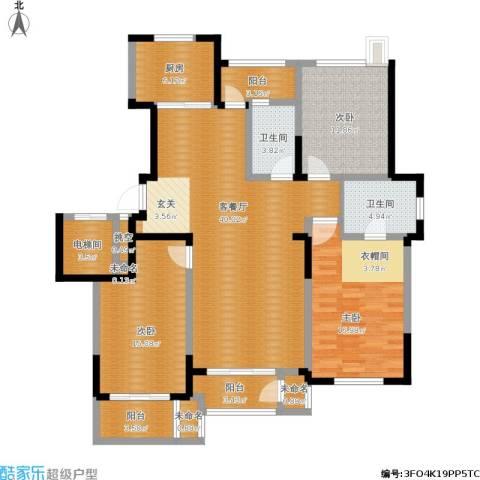 保利拉菲公馆3室1厅2卫1厨167.00㎡户型图