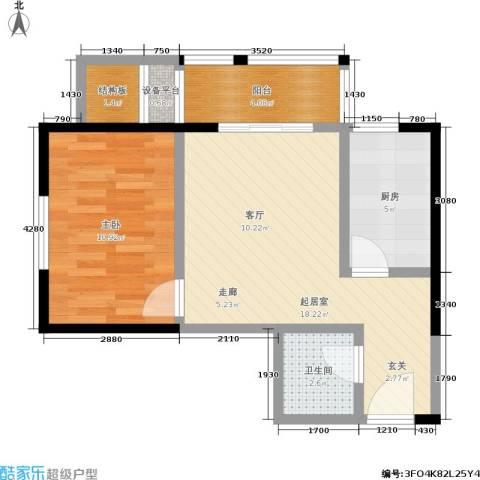 紫薇家天下1室0厅1卫1厨50.00㎡户型图