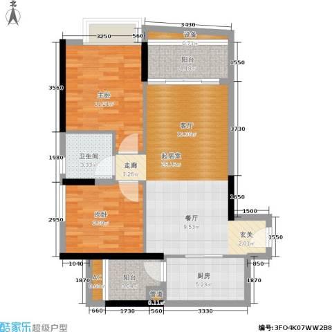 佳大银湾2室0厅1卫1厨74.00㎡户型图