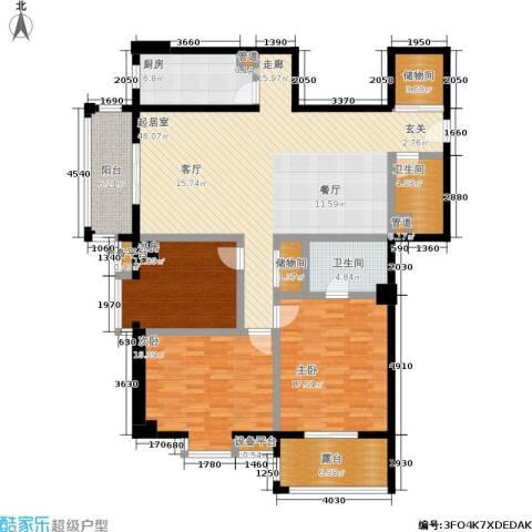 柠檬宫舍3室0厅2卫1厨147.00㎡户型图