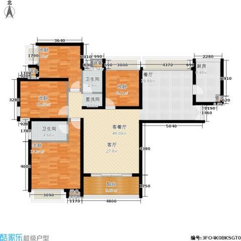 保利花园4室1厅2卫1厨165.00㎡户型图