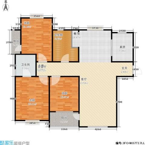 青山绿庭3室1厅2卫1厨172.00㎡户型图
