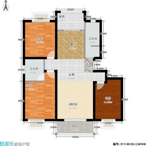 昆明花园3室0厅2卫1厨128.00㎡户型图
