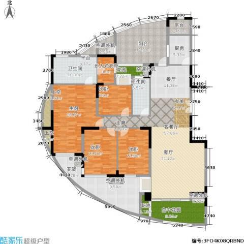 曲江南苑4室1厅2卫1厨287.00㎡户型图