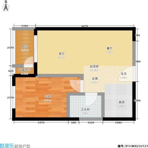 紫薇家天下1室0厅1卫0厨44.00㎡户型图
