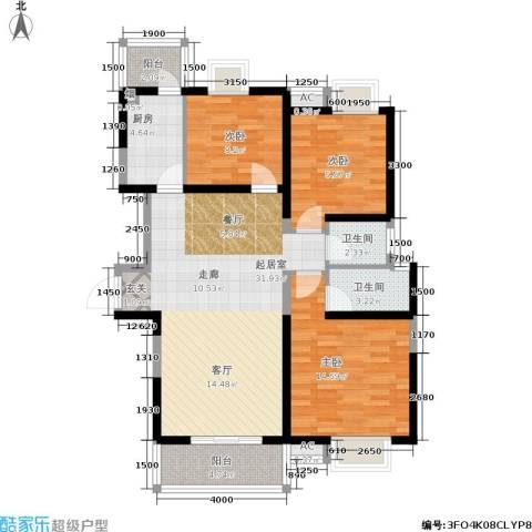 昆明花园3室0厅2卫1厨115.00㎡户型图