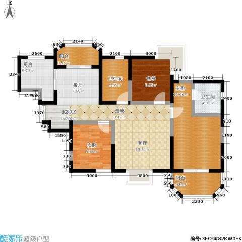 香克林小镇3室0厅2卫1厨126.00㎡户型图