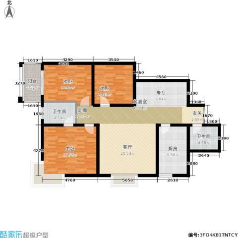 黄金嘉园3室0厅2卫1厨124.00㎡户型图